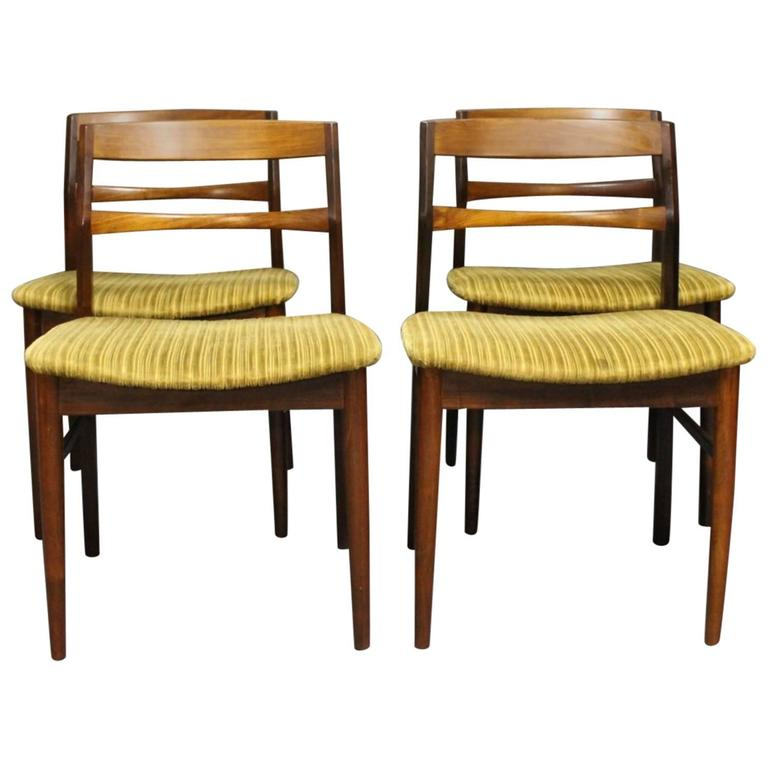Set Of Four Dining Room Chairs In Rosewood By Arne Vodder