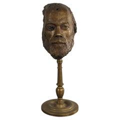 21st Century Bronze Sculpture of Bearded Man by French Artist Bernard Grollier