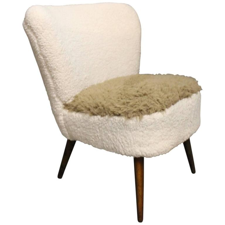 Low Easy Chair in Light Fabric and Legs of Rosewood of Danish Design, 1970s 1
