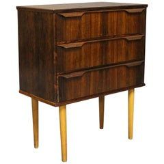"Small Chest of Drawers in Rosewood by ""Trekanten"", Danish Design, 1960s"