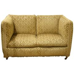 Small Knole Style Two-Seat Settee