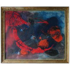 Pillon Mixed-Media on Canvas, French Artist, Late 20th Century