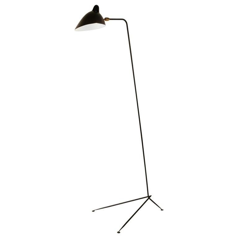 Serge mouille floor lamp also known as lampadaire simple for sale at 1stdibs - Serge mouille three arm floor lamp ...