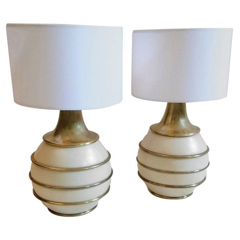 Pair Of Table Lamps By Paf Italy Circa 1970 At 1stdibs