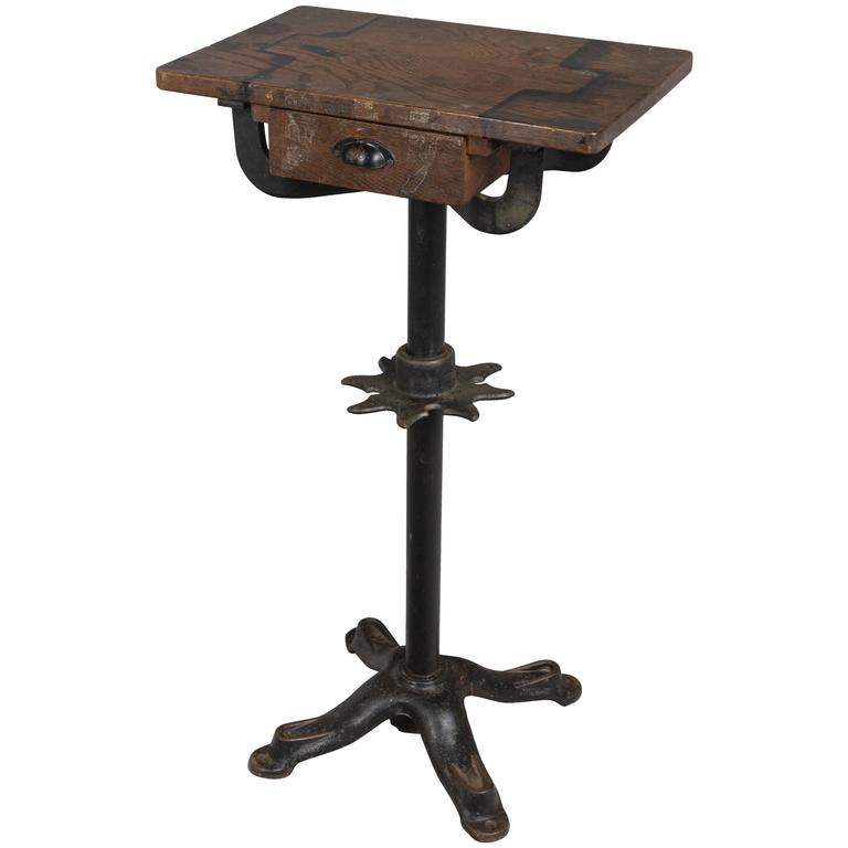 19th Century French Industrial Cast Iron Table