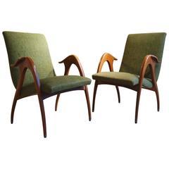 Pair of Armchairs by Malatesta & Masson