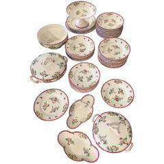 71-Piece Longwy Floral Crockery Set