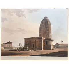 Thomas and William Daniell Aquatint Print, Hindoo Temple at Deo in Bahar, 1795