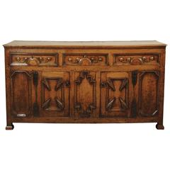 17th Century Oak Dresser Base of Superb Color