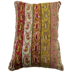 Turkish Ghiordes Rug Pillow