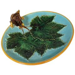 George Jones Majolica Fox Dish