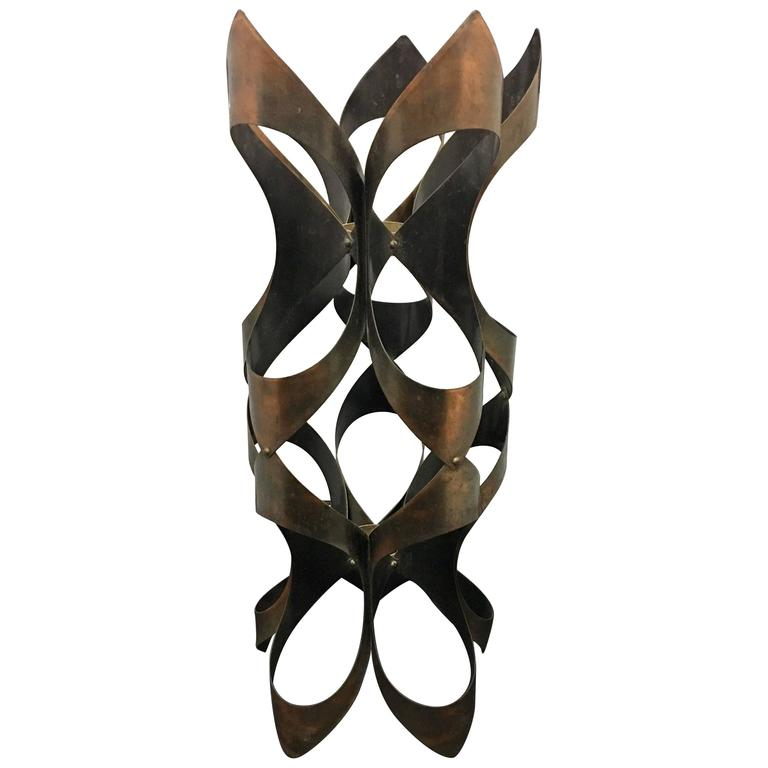 Mid-Century Modern Copper Patinated Freeform Abstract Sculpture by Mascot