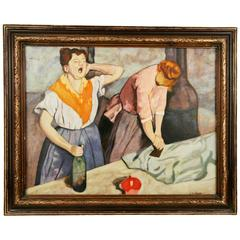 Two Laundresses Figurative Painting