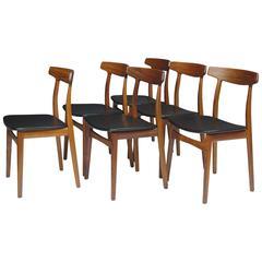 Henning Kjaernulf Rosewood Danish Dining Chairs
