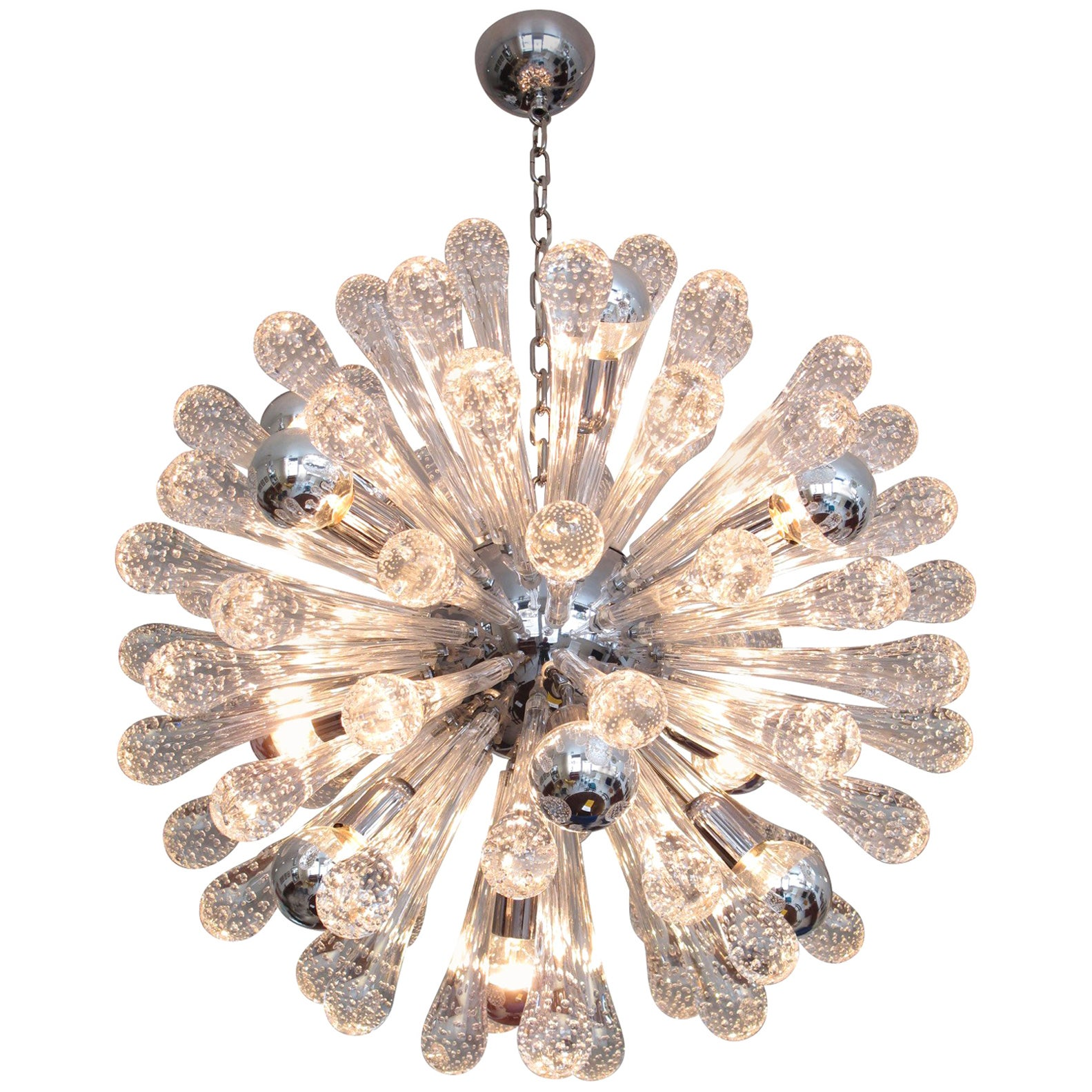 Italian Murano Glass Sputnik Twelve-Light Chandelier