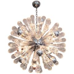 Italian Murano Glass Sputnik Twelve-Light Chandelier