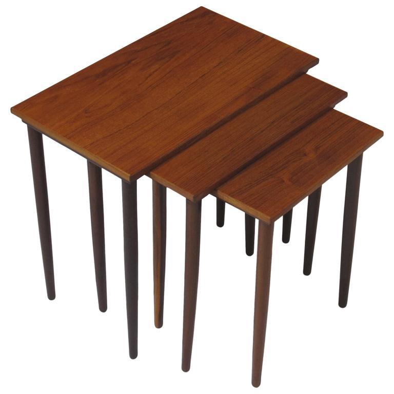Danish Teak Nesting Side Tables