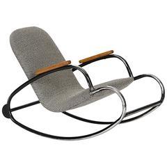 Czech Black Children's Swing Chair, 1960s