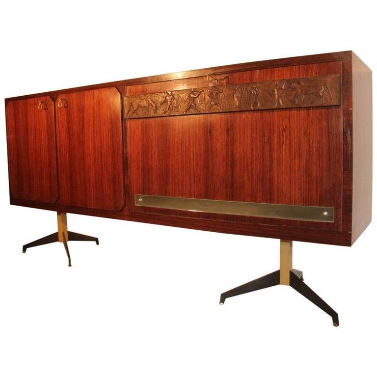 Elegant Sideboard Italian Mid-Century Design For Sale