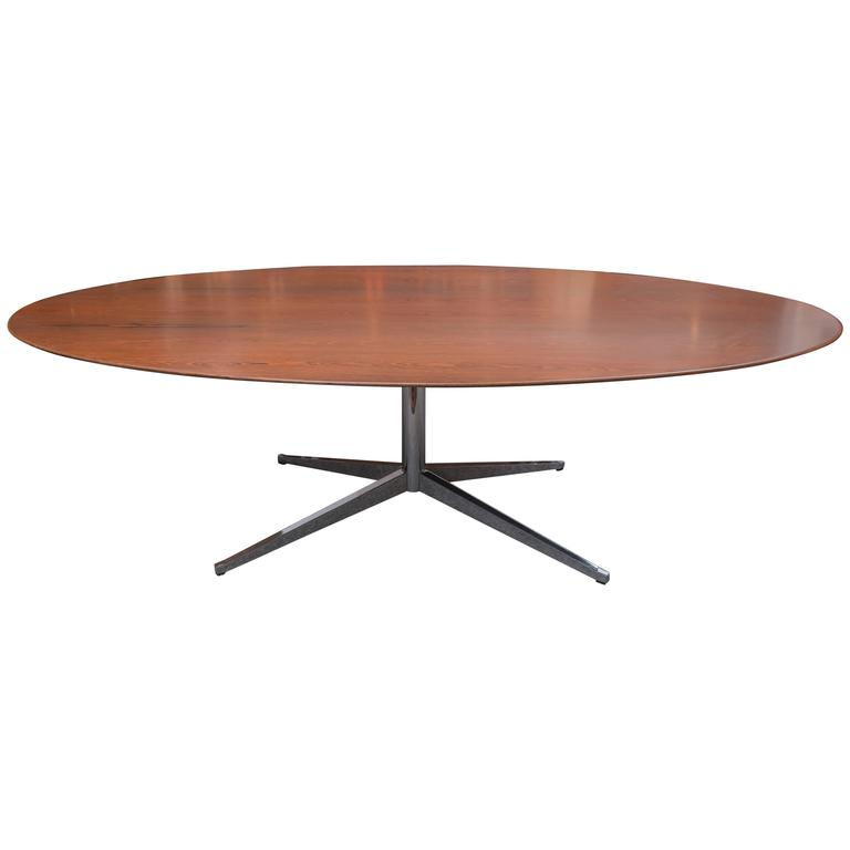Florence Knoll Rosewood Oval Dining Table 1
