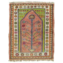 Vintage Anatolian Prayer Rug