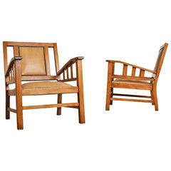 Francis Jourdain French Art Deco Modernist Pair of Armchairs, circa 1920