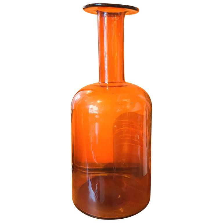 Glass Bottle Vase by Kastrup Holmegaard