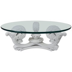 Vintage Hollywood Regency Style Coffee Table