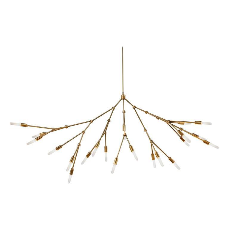 Branch Made-to-order Brass Chandelier
