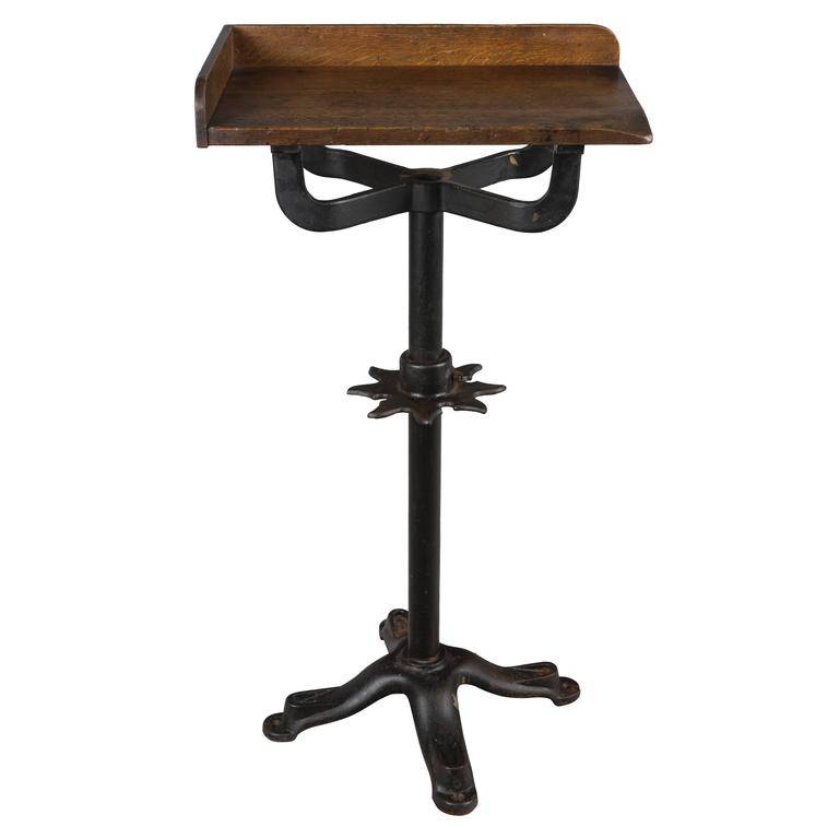 19th Century French Industrial Cast Iron Table For Sale