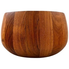Jens Quistgaard, Danish Design Large Bowl, Staved Teak