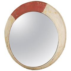 20th Century Large Convex Railway Mirror