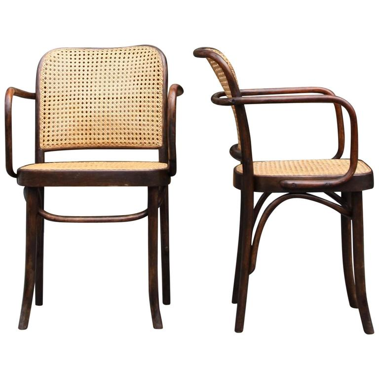 josef frank and josef hoffmann pair of no811 thonet chairs 1