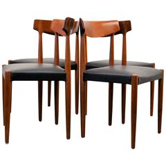Knud Faerch Massive Teak Dining Chairs