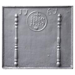 18th Century, French, 'Pillars with IHS Monogram' Fireback