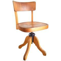 Office Swivel Chair Thonet, Model Nr.633, circa 1920