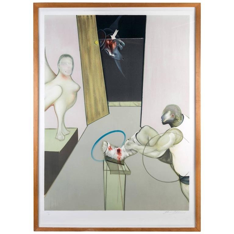 Francis Bacon, Oedipus and the Sphinx, Signed Lithograph in Colors