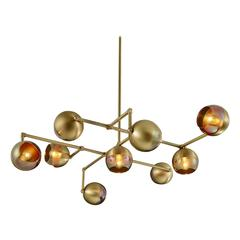 Float Made-to-Order Modern Brass Chandelier