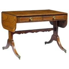 Early 19th Century Regency Sofa Table after Thomas Sheraton