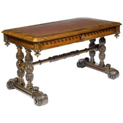 Early 19th Century William IV Walnut Library Table