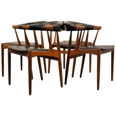 Johannes Andersen Teak Dining Chairs, Set of Four