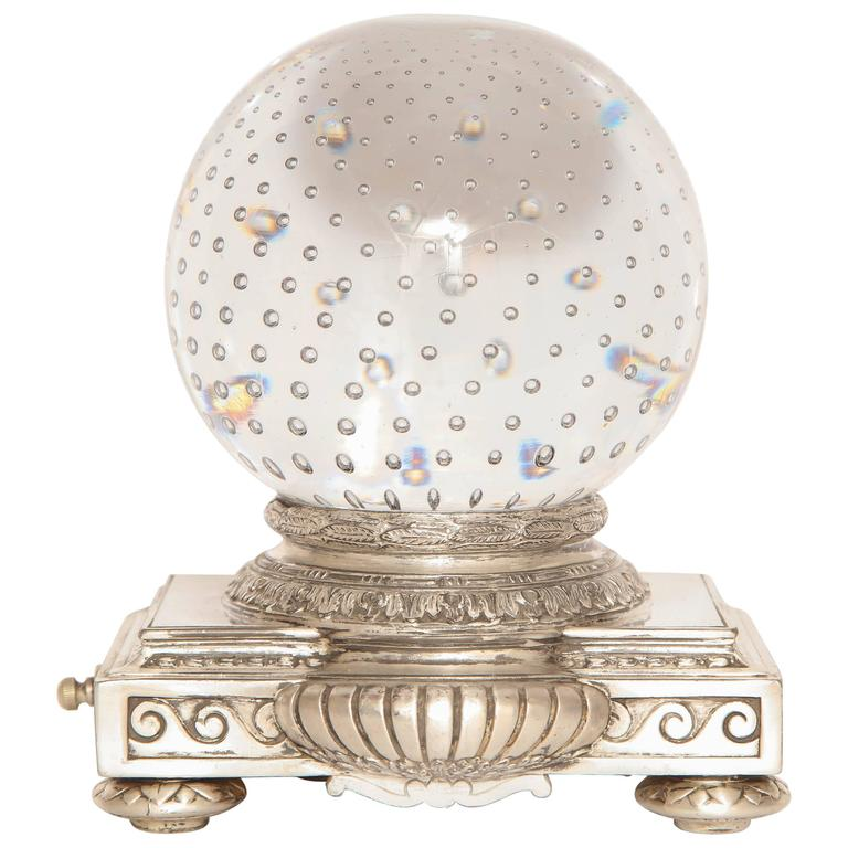 Pairpoint Art Deco Glass Crystal Table Lamp For Sale