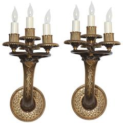 Caldwell Art Deco Sconces Patinated Bronze