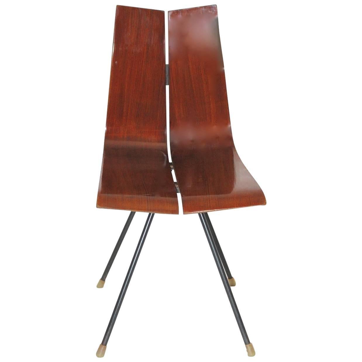 Mid-Century Modern Hans Bellmann Model GA Chair Side Chair circa 1955