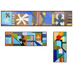 Mid-Century Evelyn Ackerman California Modernism Mosaic Art Sculpture Tryptic