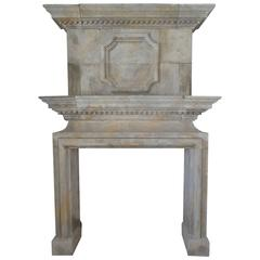 Louis XIII Mantel with Finely Hand-Sculpted Trumeau