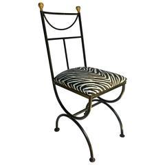 'Savonarola' Curule Style Iron Chair