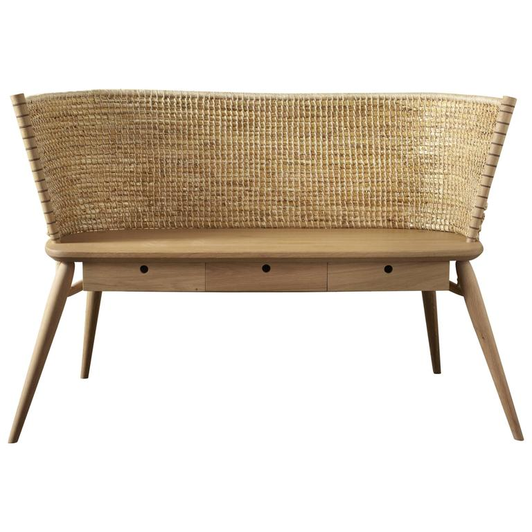 Handwoven Orkney Style Straw Brodgar Bench by Gareth Neal For Sale