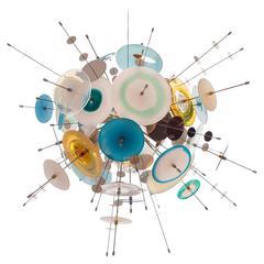 Confetti Glass Sapphire Chandelier by AVRAM RUSU STUDIO