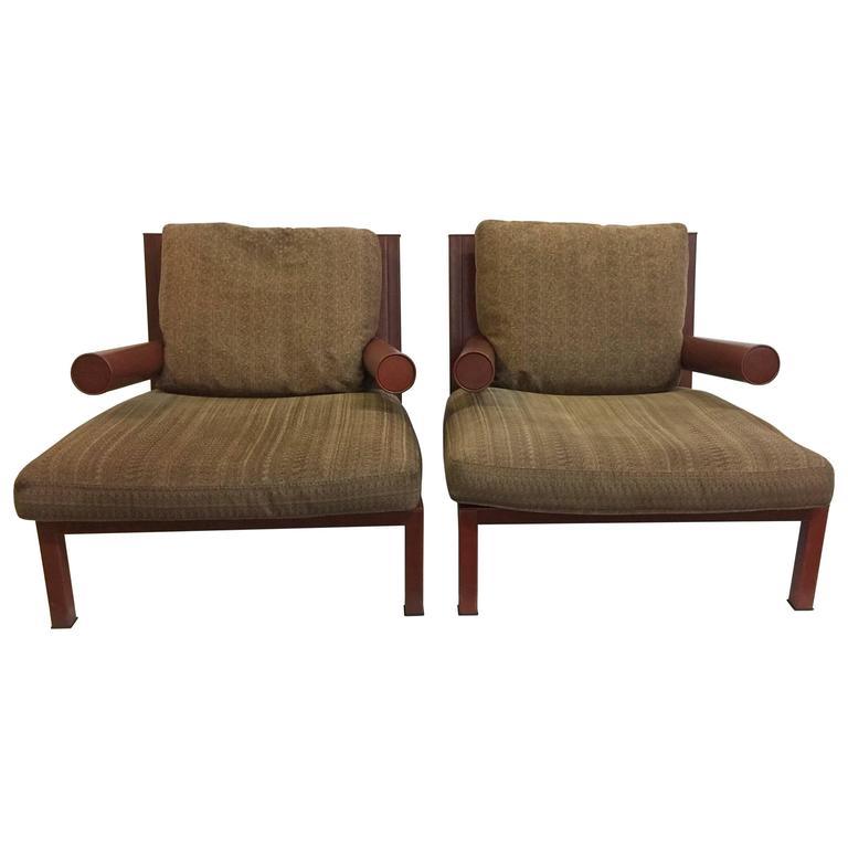 "Antonio Citterio Original ""Baisity"" Lounge Chairs for B & B Italia, Pair 1"